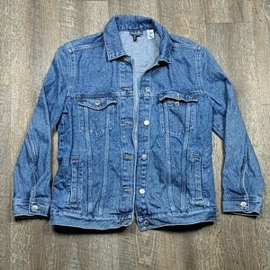 Blue Denim Jacket Button Up Divided H&M Trucker